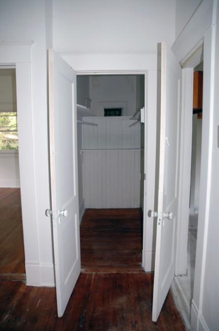 Hallway converted to closet? That one's still a mystery to us.