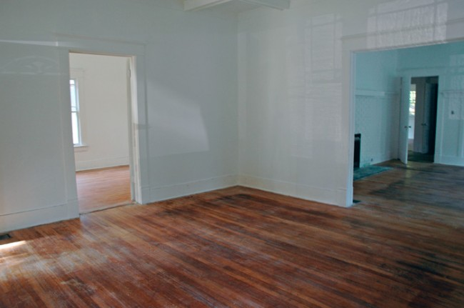 View to office and dining room.