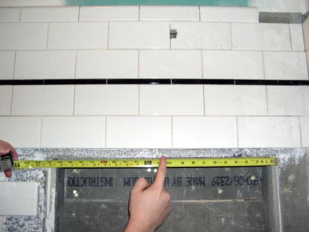 Off-center plumbing