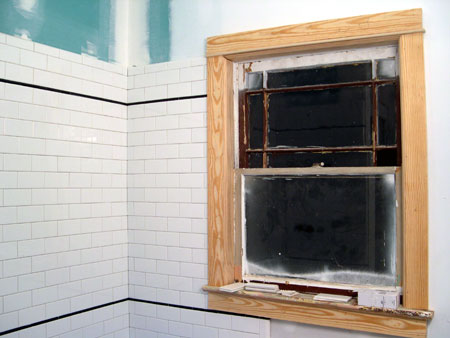 Bathroom window molding