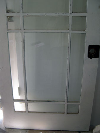 Parlor glass door