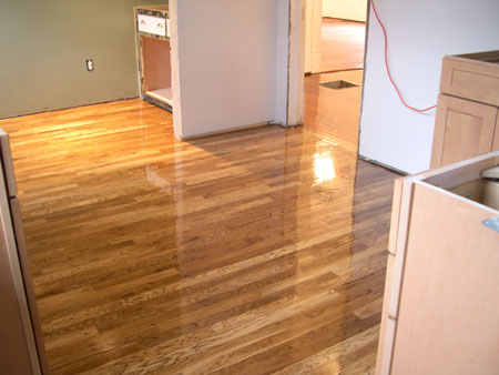 Kitchen hardwood floor polyurethane