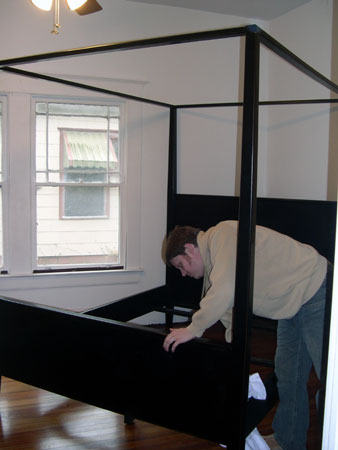 Assembling guest bed