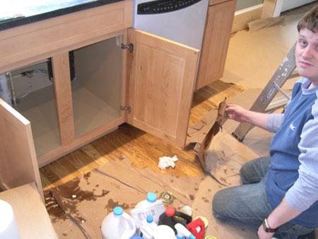 Leaking kitchen sink