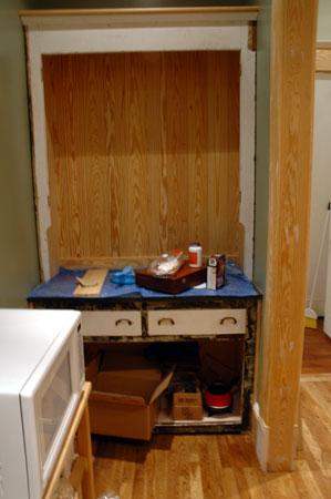 Butler's pantry construction