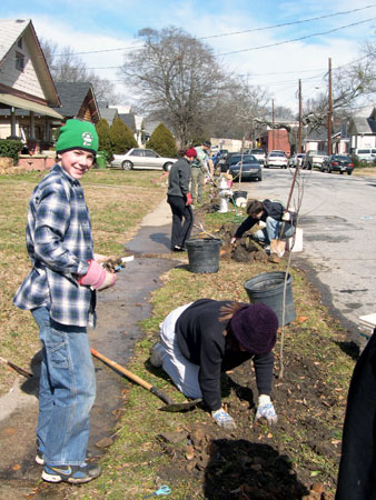 Trees Atlanta Westview planting