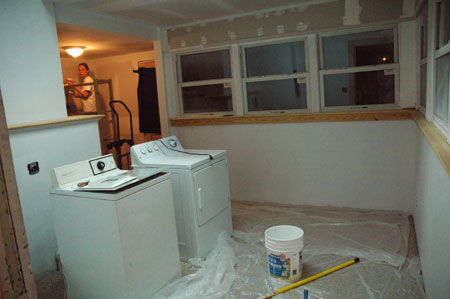 Paint laundry room