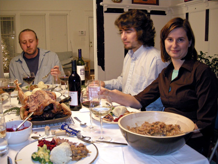 Christmas dinner with friends