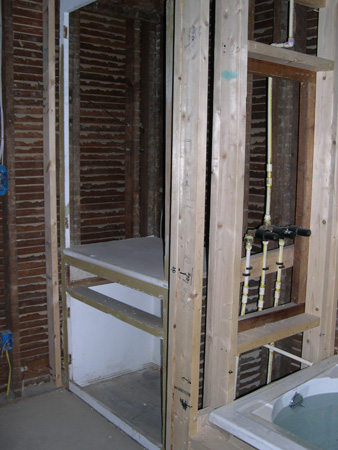 Linen closet construction