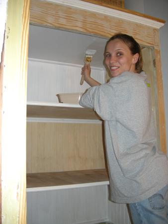 Linen closet painting