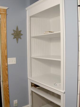 Linen closet painted