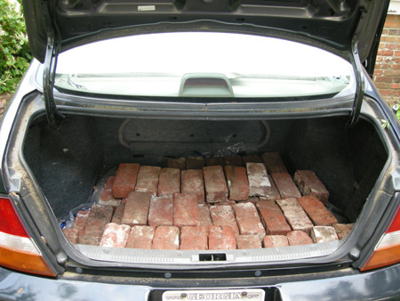 Trunk full of bricks