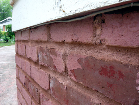 Re-pointing brick after