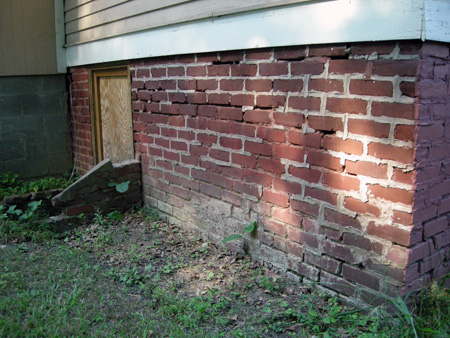 Re-pointing brick before