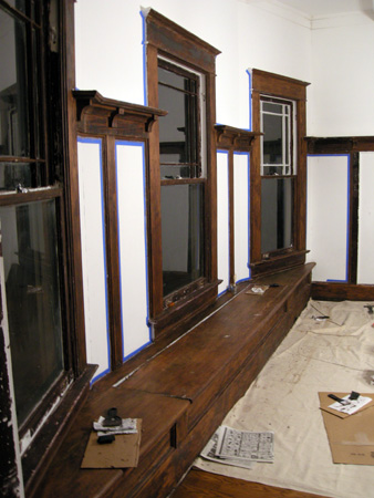 Dining room paint stripping