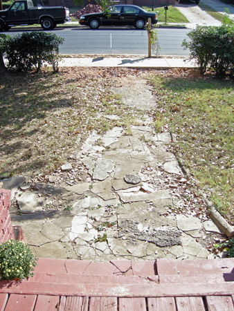 Front path before