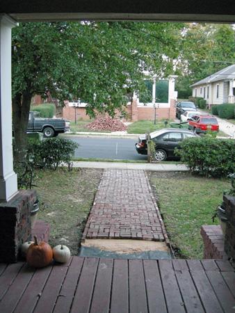 Front path brick