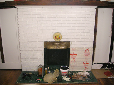 Fireplace with Peel Away