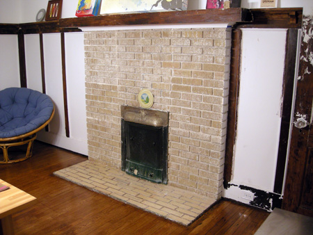 Fireplace after PeelAway