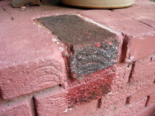 Exterior brick after PeelAway