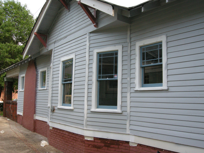 Primed bungalow exterior