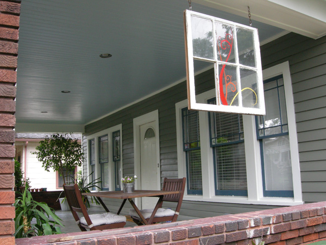 Repainted porch