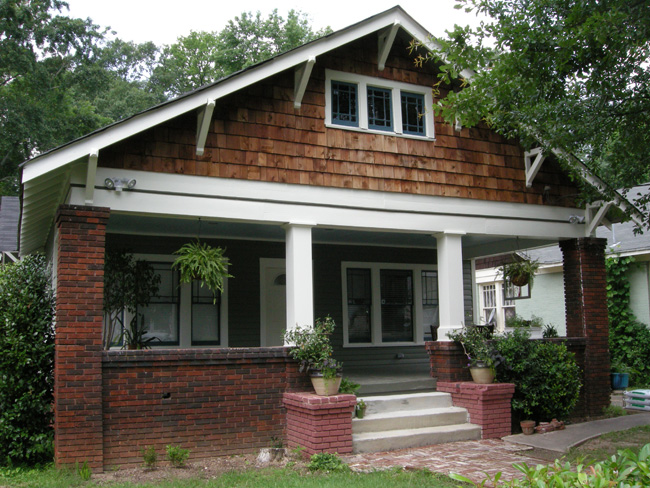 Exterior painted bungalow