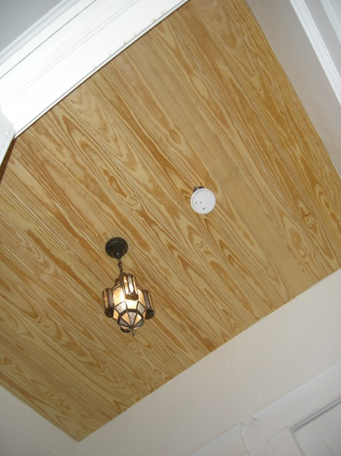 Wood V-Groove Panel Ceiling