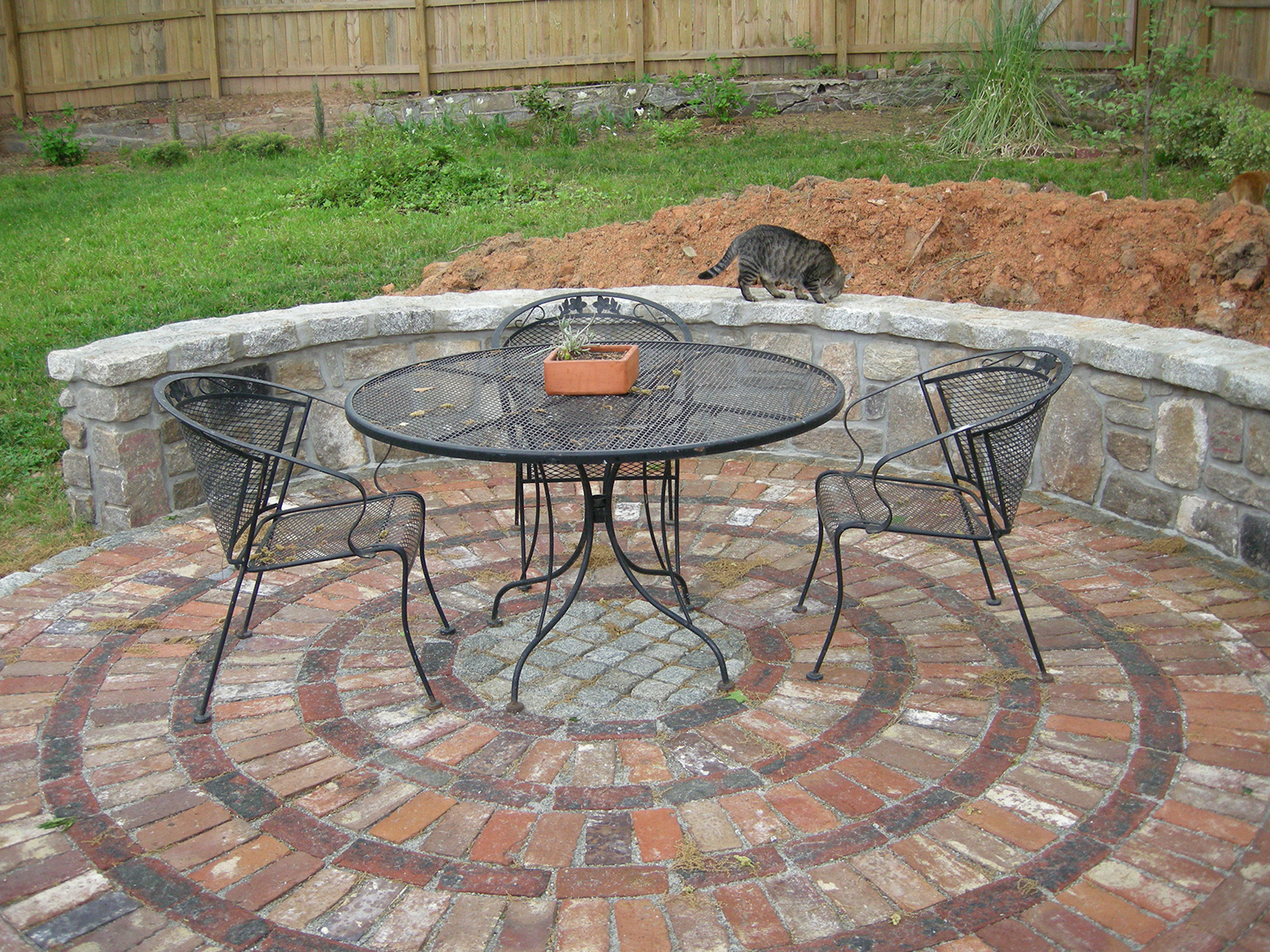 12 Circular Patio Furniture The Wall And The Patio In Their Final State With Our Patio Furniture