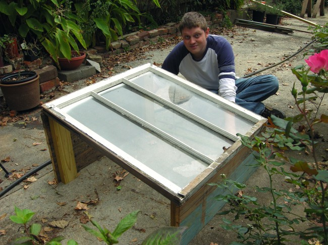 Cold Frame Front and Back