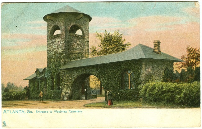 Westview Cemetery Postcard - It is postmarked 1909.
